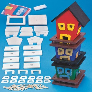 3 TIER TILTED BIRDHOUSE KIT