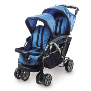 DUO DOUBLE TANDEM FOLDING STROLLER