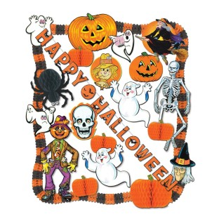 FLAME RESISTANT HALLOWEEN DECORATING KIT