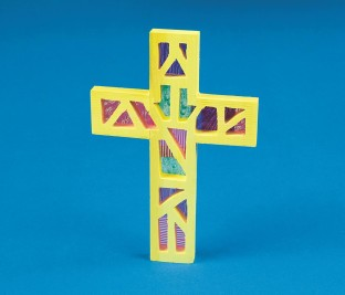 WOODEN CROSS CRAFT KIT PK/12