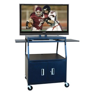 SHARP 42IN TV W/FLAT PANEL AV CART