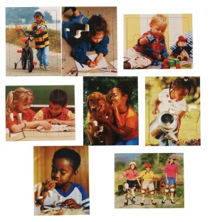 CHILDREN AT PLAY PUZZLES SET OF 8