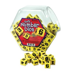 FOAM NUMBER DICE