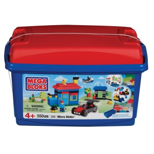 MEGA BLOKS MICRO BLOKS TUB SET OF 550
