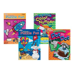 CHILDREN PUZZLE & GAME ACT BOOKS PK/12
