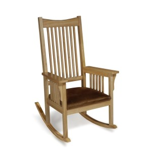 ROCKING CHAIR WITH CUSHIONED SEAT NATURAL