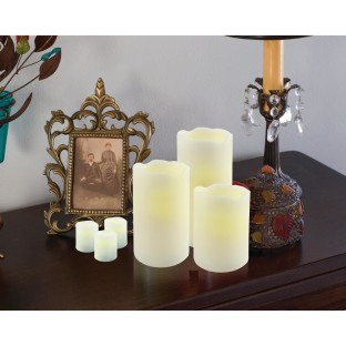 FLAMELESS CANDLE ASSORTMENT SET OF 11