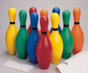 RAINBOW BOWLING SET W/4LB BALL