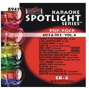 60 AND 70S VOL 6  KARAOKE CD+G
