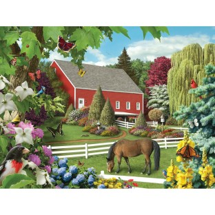 MEMORY LANE LEAVES OF GREEN 300 PC PUZZLE