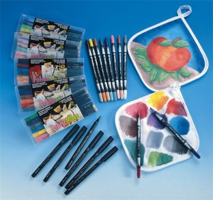 MARKERS FABRIC STANDARD PK/6