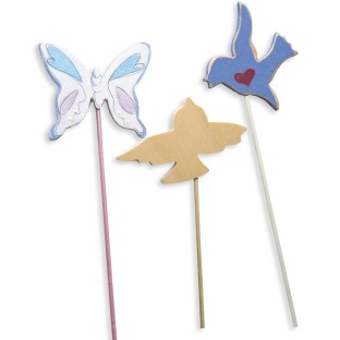 BUTTERFLY & BIRD PICKS 12/PK