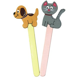 CAT AND DOG CRAFT STICKS PK 32