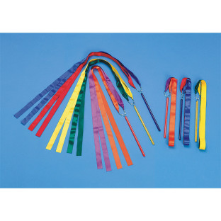 Multi-Colored Ribbon Wands