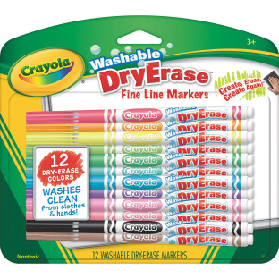 buy crayola washable dry erase fine line markers at s s worldwide