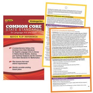 COMMON CORE QUICK FLIP ELA LITERACY MATH K