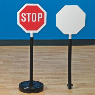 2 IN 1 COMBO STOP SIGN SET