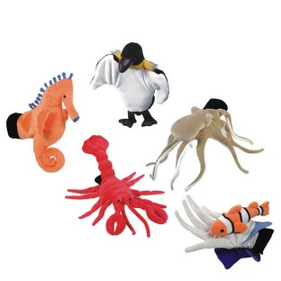 SEA LIFE GLOVE PUPPET SET OF 5
