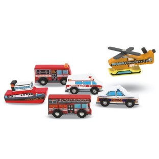 SIX PIECE RESCUE VEHICLE SET