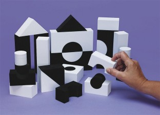 SOFTBLOCKS BLACK WHITE 30PC
