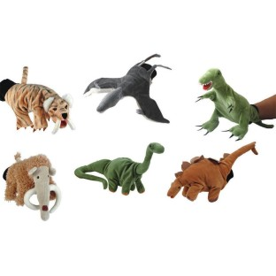 PREHISTORIC ANIMALS GLOVE PUPPET SET 5