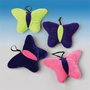 PLUSH BUTTERFLIES PK12