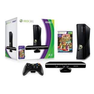 XBOX 360 KINECT CONSOLE W/WIRELESS CONTROLLER