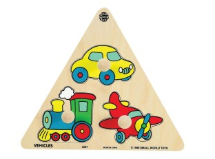 VEHICLES TRIANGLE WOOD PUZZLE