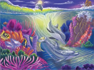 DOLPHIN COVE PUZZLE 100 PC
