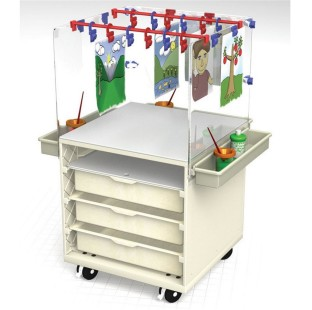 MOBILE STORAGE DRYING EASEL