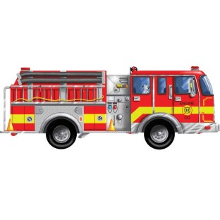 PUZZLE FLOOR GIANT FIRE TRUCK 24 PC