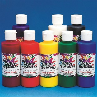 STAIN GLASS 8 OZ SET8