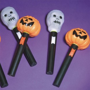 LIGHT UP HALLOWEEN WANDS PK12