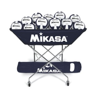 Mikasa® Hammock-Style Volleyball Ball Cart, Navy