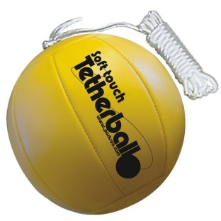Safe alternative to traditional rubber tetherballs.