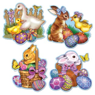 EASTER CUTOUTS PK/4