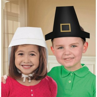 THANKSGIVING PAPER HATS PK12