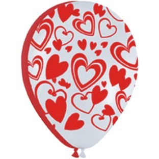 Flirty Hearts Latex Balloons
