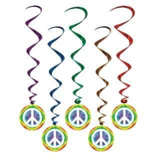 PEACE WHIRLS SET OF 5
