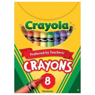 Crayola® Regular Size Crayons, Box of 8