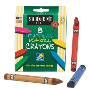 SARGENT NO ROLL CRAYONS BX/8