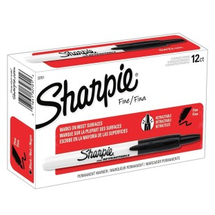 Sharpie® Retractable Black Markers