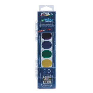 Prang Washable Semi-Moist Watercolors, 8 colors
