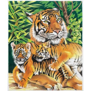 COLORING BY NUMBERS TIGERS AND CUBS