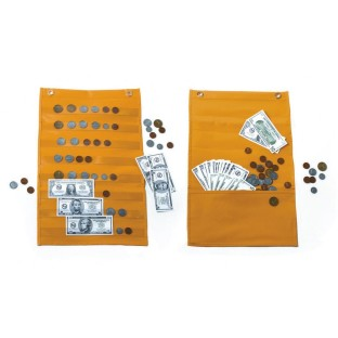 MONEY POCKET CHART WITH COINS AND BILLS