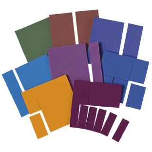 Foam Fraction Squares, 51 pieces
