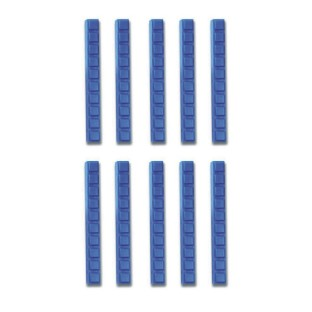 BASE TEN RODS BLUE OPAQUE INTERLOCK 10'S PK/10