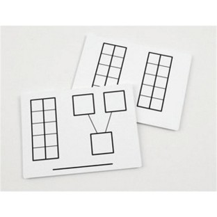 Write-and-Wipe Ten Frames Mats