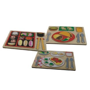 Ethnic Food Puzzle Set