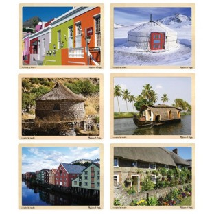HOMES AROUND THE WORLD PUZZLE SET OF 6